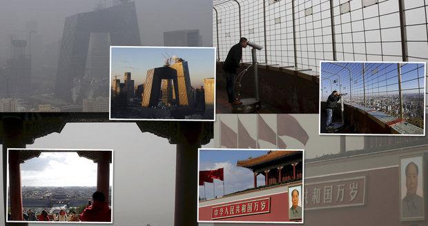 Lidi dusí žlutý karcinogenní oblak: Plíce neochrání ani roušky, bojí si obyvatelé Pekingu