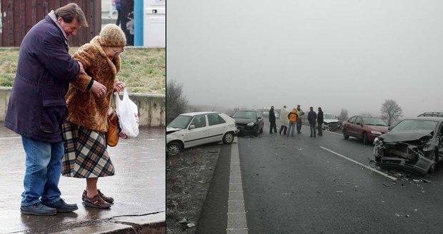 Namoklé silnice a chodníky podchladnou, náledí se začne tvořit již ve středu v noci, varují meteorologové.