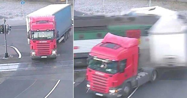 Policie obvinila šoféra kamionu, kterému vlak ujel návěs. Hrozí mu až pět let