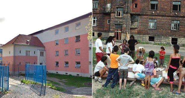 Romské děti házejí kameny z oken. Čunek jim hrozí vyhazovem z bytu