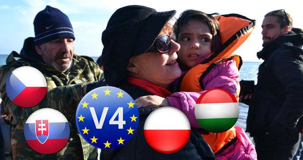 Češi porazili v kritice uprchlíků země Visegrádu, nejvstřícnější byli Poláci