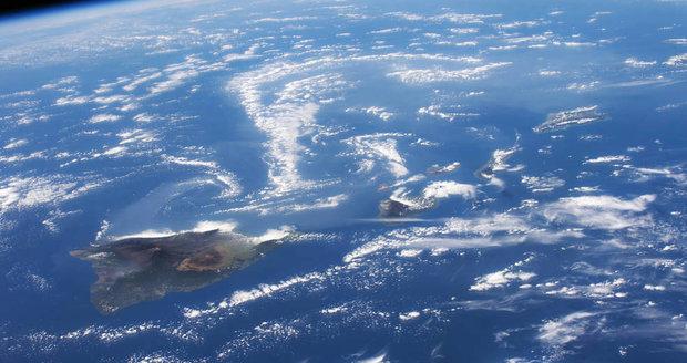 Snímky z Mezinárodní vesmírné stanice: Havaj