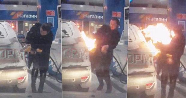 Ruska chtěla rozmrazit hrdlo nádrže u auta, ale podpálila ho.