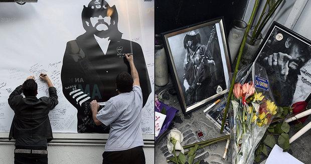 Pohřeb metalového krále Lemmyho v Hollywoodu.
