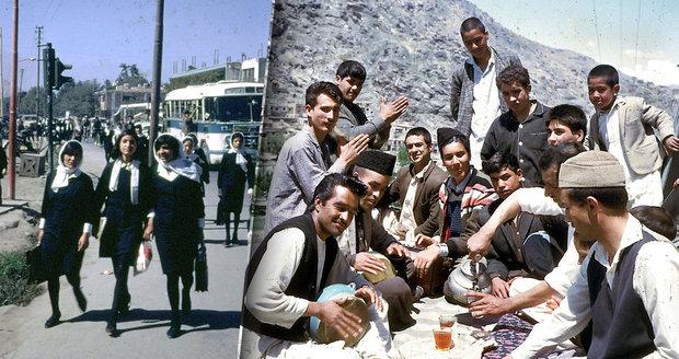 Život v Afghánistánu před islamisty: Žádné násilí, žádné burky, ženy v sukních a nablýskané bouráky!