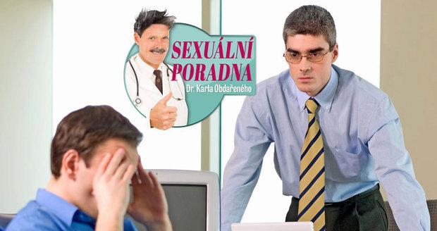 Dr. Karel Obdařený radí Milanovi, kterého v práci načapal šéf s erekcí.
