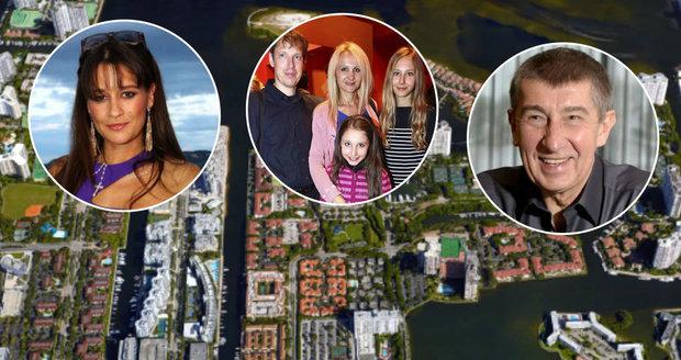 Mnohé české celebrity si pořídily luxusní sídla na Floridě a shodou okolností jsou všichni sousedé.