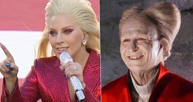 Lady Gaga vypadala na Super Bowlu jako spousta lidí a věcí.