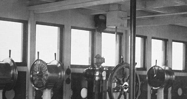Původní velitelský můstek na Titanicu.