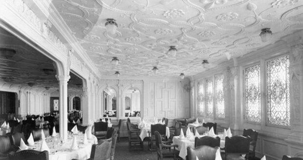 Původní jídelna pro první třídu na Titanicu.