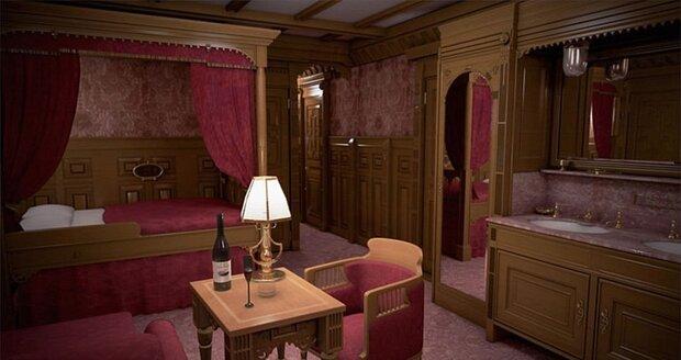 Pokoj v první třídě na palubě Titanicu II.