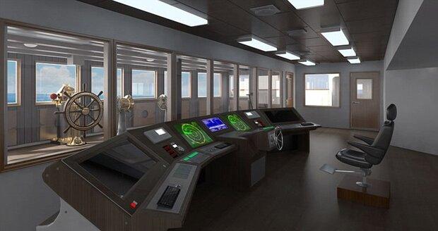 Autentický velitelský můstek na Titanicu II bude jen na ozdobu. Loď se bude řídit nejmodernějšími technologiemi.