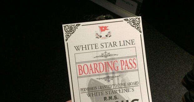 Při vstupu na výstavu dostanete palubní lístek.