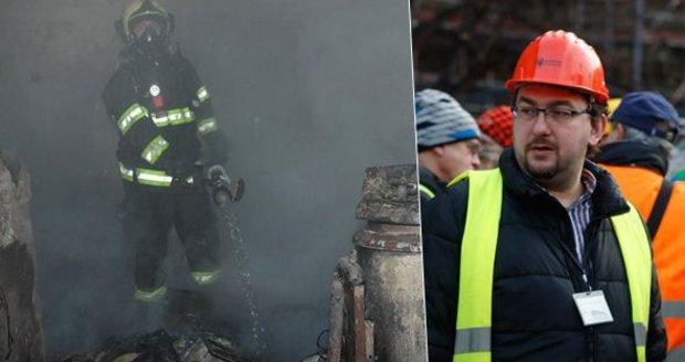 Ředitel Národního muzea Michal Lukeš obhlédl škody po požáru. Ten pravděpodobně zavinila porucha na elektroinstalaci.