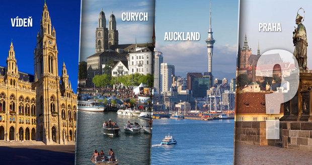 Nejlepší města pro život jsou Vídeň, Curych a Auckland! Kde skončila Praha?