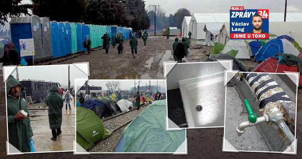 Na inspekci mezi běženci: Koryta na mytí, málo záchodů a káva za 40 korun