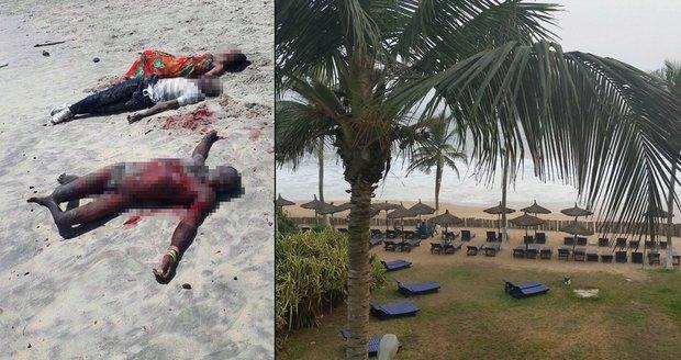 Na pláži umírali i Evropané. Teroristé postříleli v letovisku u moře 16 lidí