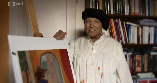 Karel Gott v malířském na cenách Trebbia