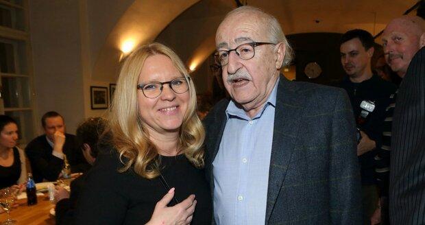 Juraj s exmanželkou Terezou Pokornou
