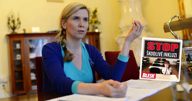 Ministryně Valachová pro Blesk: Chci férové podmínky pro všechny děti