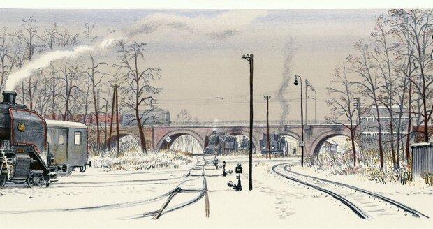 Kolejiště před Negrelliho viaduktem