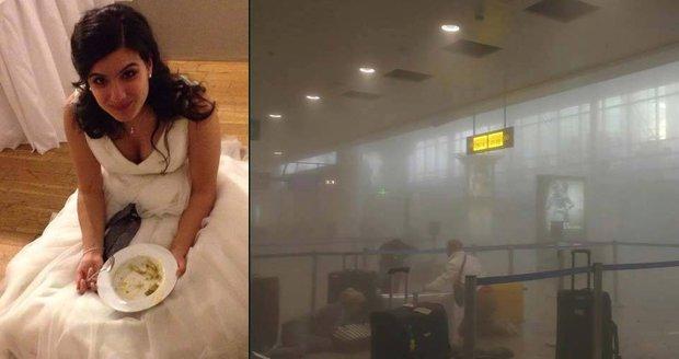 Nevěsta s manželem letěla z Bruselu na opožděné líbánky, na letišti ji zabili teroristé