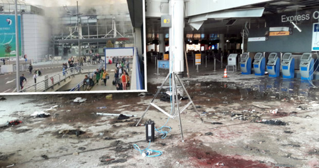Obraz zkázy: Bruselské letiště dva dny po teroristickém útoku
