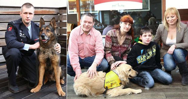Jeden zabránil sebevraždě, další zachránila pět lidí z ohně: Zvířecí hrdinové a pomocníci dostali cenu Statečné psí srdce
