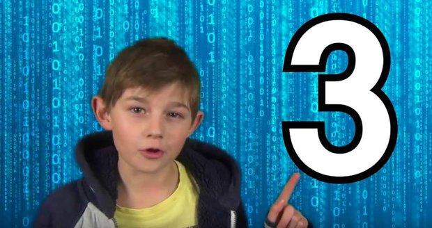 Franta nachytal dospěláky chytákem s arabskými číslicemi.