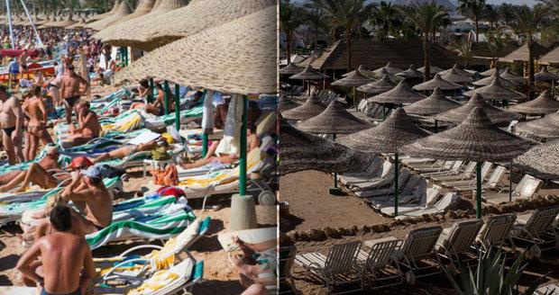 Egyptský resort Šarm aš-Šajch zeje prázdnotou.