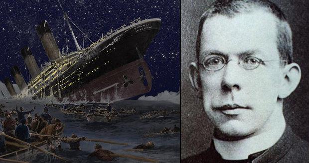 Titanic možná získá světce. Kněz se při zkáze obětoval pro další cestující