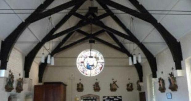 Farnost sv. Heleny, zde sloužil otec Byles.