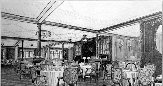 Restaurace na Titanicu.