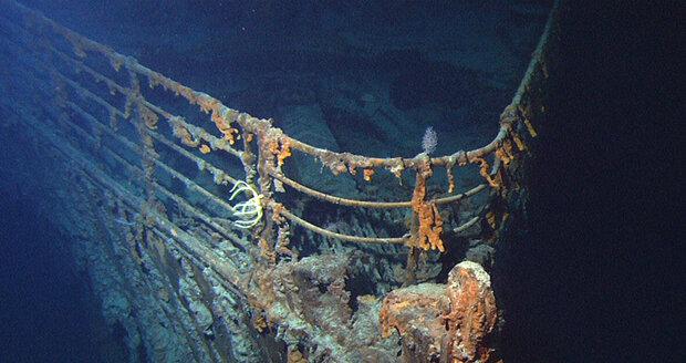 Příď potopeného Titanicu.