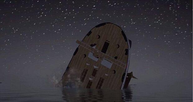 Titanic se potopil během necelých tří hodin.