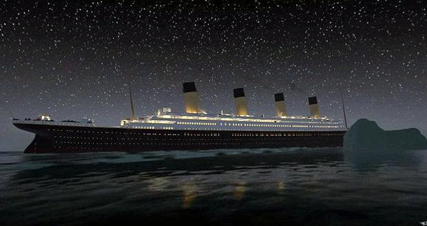 Titanic se srazil s ledovcem.