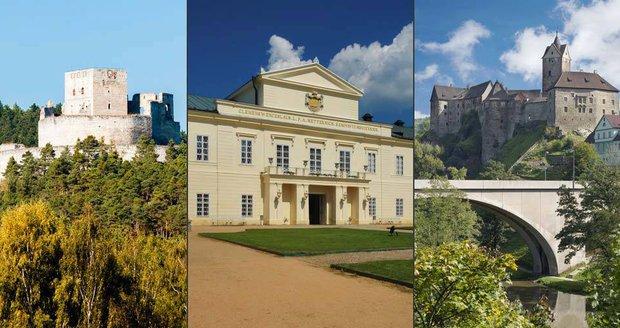 Nejkrásnější hrady a zámky Karlovarského a Plzeňského kraje