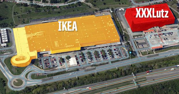 """Pozice Ikea na Černém Mostě pod palbou: XXXLutz """"TA TA TA TA"""" chce její zákazníky"""