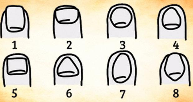 Co o vás prozradí tvar nehtů?