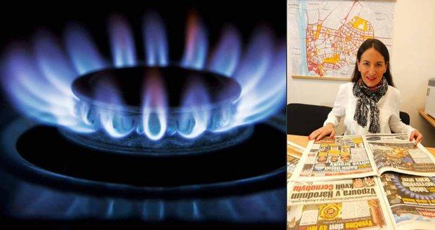 Ceny plynu v Praze se musí snížit! Zastupitelka Alexandra Udženija podpořila aktivitu Blesku