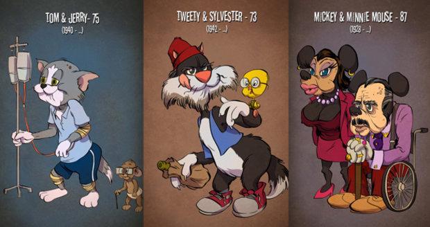 Takto vypadají animované postavičky jako důchodci.