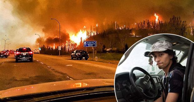 Ohnivé peklo v Kanadě: Útěk mezi plameny a v hustém dýmu