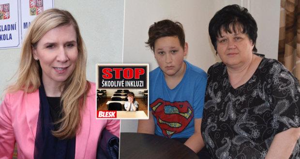 Maminka nemocného Ládíka (13) ministryni Valachové: Neumíte držet slovo!