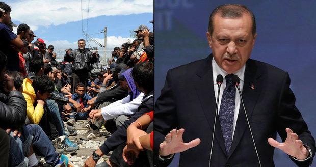 """""""Otevřeme hranice pro uprchlíky,"""" pohrozil Erdogan i Čechům"""