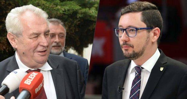 Ovčáček o vztahu se Zemanem: Prezidentovi kravatu narovnávám tajně