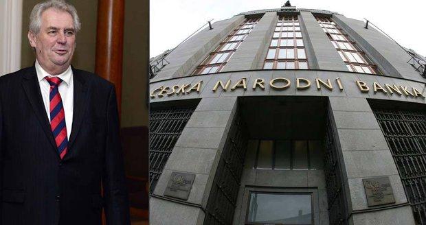 Zeman mění vedení ČNB: Kdo stojí za oslabováním koruny a kolik si vydělá?