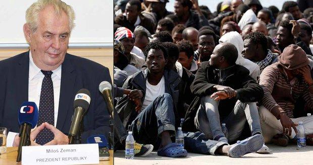 Prezident Miloš Zeman mluvil v Olomouckém kraji o migrantech. Pracovat prý nechtějí, dávky ale ano.