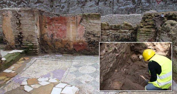 V Římě kopali tunel metra, našli starověké kasárny legionářů