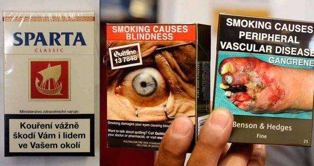 V Evropě začíná čas odpudivých krabiček cigaret. Češi pouštění hrůzy oddálili