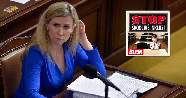 Opozice »naložila« Valachové i kvůli inkluzi, ale… Sněmovna přehlasovala Zemanovo veto